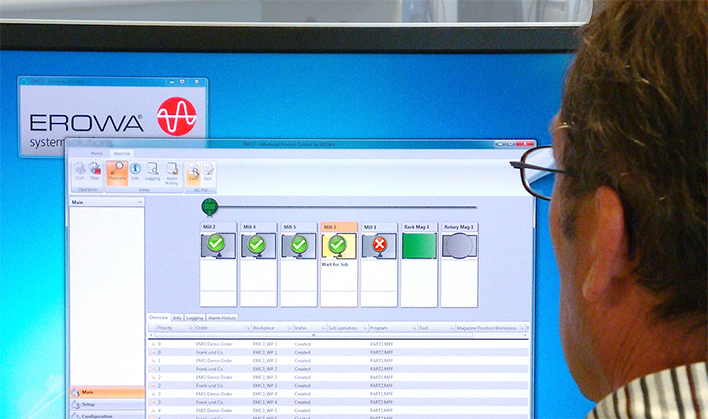 Le système de pilotage dispose de toute l'information utile pour libérer la machine en cas de bridage non conforme